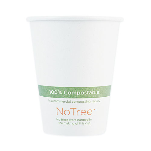 NoTree Paper Hot Cups, 8 oz, Natural, 1,000/Carton