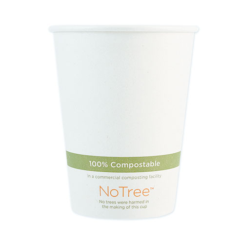 NoTree Paper Hot Cups, 12 oz, Natural, 1,000/Carton