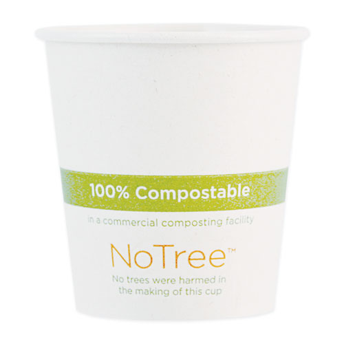 NoTree Paper Hot Cups, 4 oz, Natural, 1,000/Carton