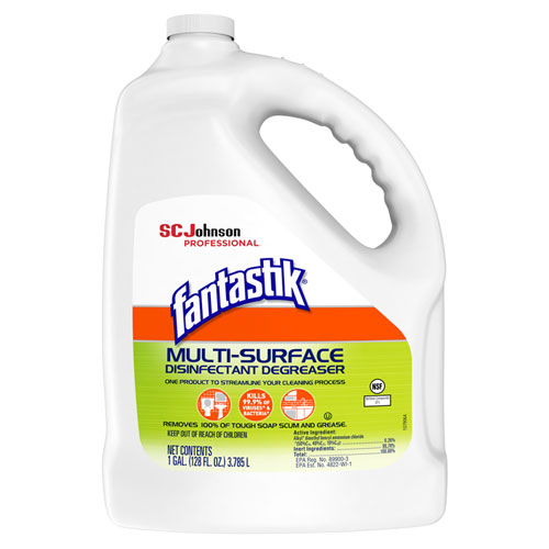 Multi-Surface Disinfectant Degreaser, Pleasant Scent, 1 Gallon Bottle, 4/Carton