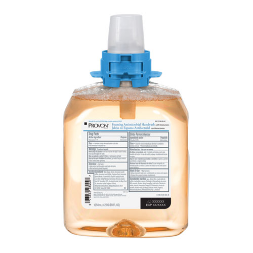 Foaming Antimicrobial Handwash with Moisturizers, Light Fruity Scent, 1250 ml Refill, 4/Carton