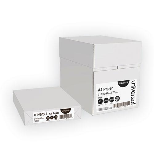 Copy Paper, 92 Bright, 20lb, A4, White, 500 Sheets/Ream, 5 Reams/Carton