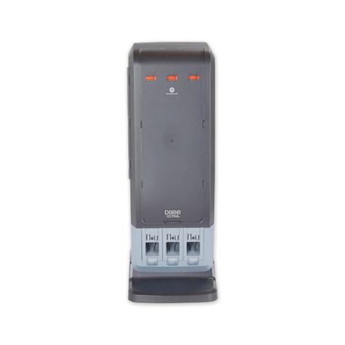 SmartStock Tri-Tower Dispenser, Fork/Knife/Spoon, 13.16 x 16.07 x 31.03, Black/Gray