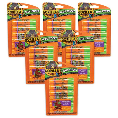 School Glue Sticks, 0.21 oz/Stick, Dries Clear, 36 Sticks/Box