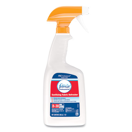 Professional Sanitizing Fabric Refresher, Light Scent, 32 oz Spray, 8/Carton
