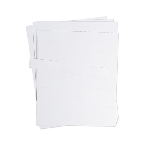 Data Card Replacement Sheet, 8.5 x 11 Sheets, White, 10/Pack