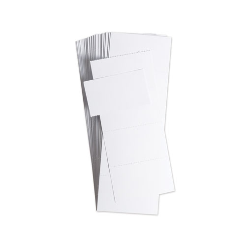 Data Card Replacement, 3 x 1.75, White, 500/Pack