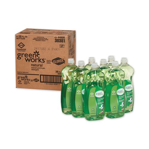 Manual Pot and Pan Dishwashing Liquid, 38 oz Bottle, 8/Carton