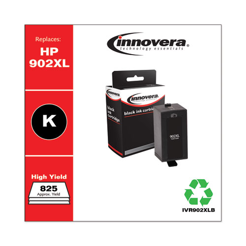 Innovera® Remanufactured Black High-Yield Ink, Replacement For HP 902XL (T6M14AN), 825 Page Yield