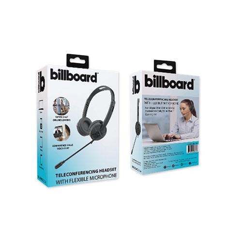 Telecom Headset, Binaural, Over the Head/Behind the Head, Black