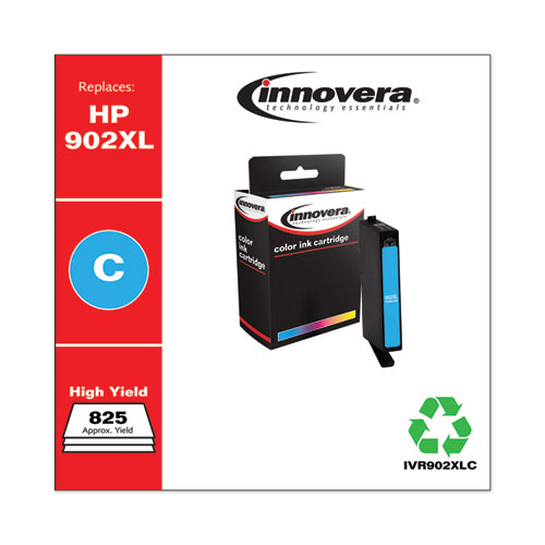 Innovera® Remanufactured Cyan High-Yield Ink, Replacement For HP 902XL (T6M02AN), 825 Page Yield