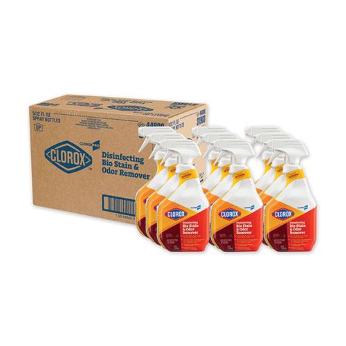 Disinfecting Bio Stain and Odor Remover, Fragranced, 32 oz Spray Bottle, 9/Carton