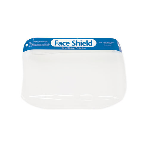 Face Shield, 8.66 x 0.5 x 12.99, 10/Pack
