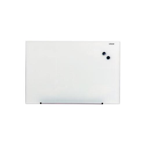 Frameless Magnetic Glass Marker Board, 36 x 24, White