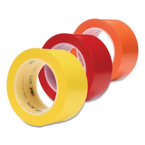 "3M™ Vinyl Floor Marking Tape 471, 2"" x 36 yds, Red"
