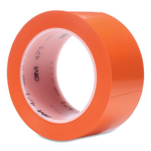 Vinyl Floor Marking Tape 471, 2 x 36 yds, Orange