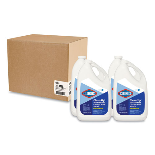 Clean-Up Disinfectant Cleaner with Bleach, Fresh, 128 oz Refill Bottle, 4/Carton