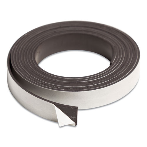 Magnetic Adhesive Tape Roll, 0.5 x 7 ft, Black, 1/Roll