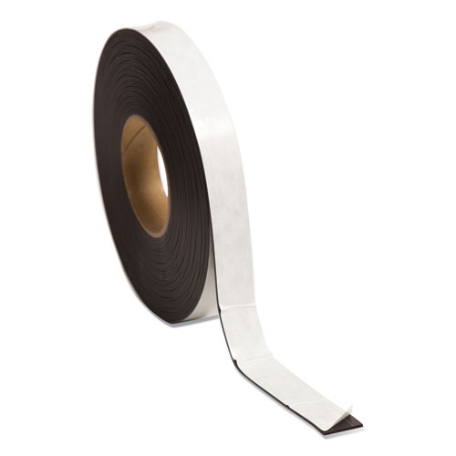 Magnetic Adhesive Tape Roll, 1 x 50 ft, Black, 1/Roll