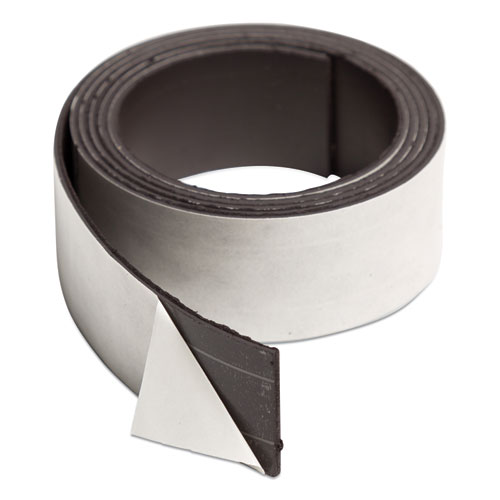 Magnetic Adhesive Tape Roll, 1 x 4 ft, Black, 1 Roll