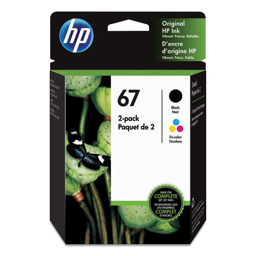 HP 67, (3YP29AN) 2-pack Black/Tri Color Original Ink Cartridges