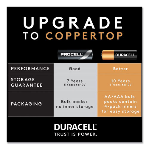 Procell Alkaline 9V Batteries, 12/Box