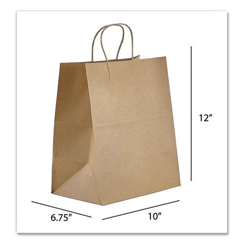 Kraft Paper Bags, Bistro, 10 x 6.75 x 12, Natural, 250/Carton