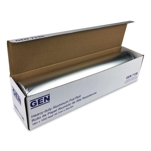 Heavy-Duty Aluminum Foil Roll, 18 x 1,000 ft, 2/Carton