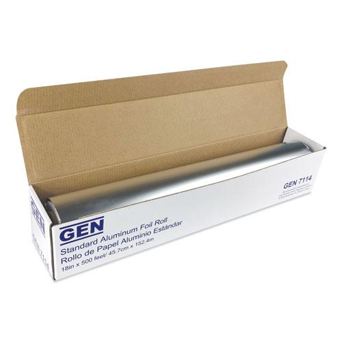 Standard Aluminum Foil Roll, 18 x 500 ft, 4/Carton