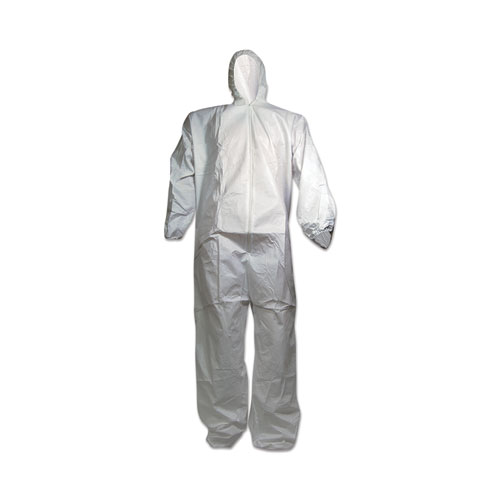 Breathable Puncture and Tear Resistant Disposable Coverall, X-Large, White, 25/Carton