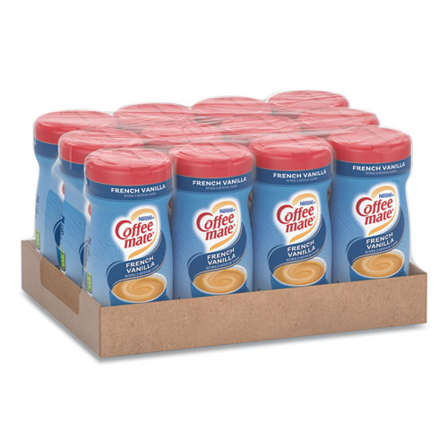 Non-Dairy Powdered Creamer, French Vanilla, 15 oz Canister, 12/Carton