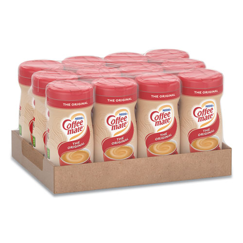 Coffee mate® Non-Dairy Powdered Creamer, Original, 11 oz Canister, 12/Carton
