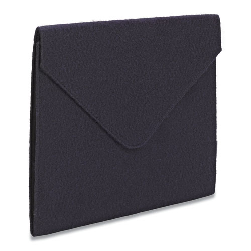 Soft Touch Cloth Expanding Files, 2 Expansion, 1 Section, Letter Size, Navy Blue