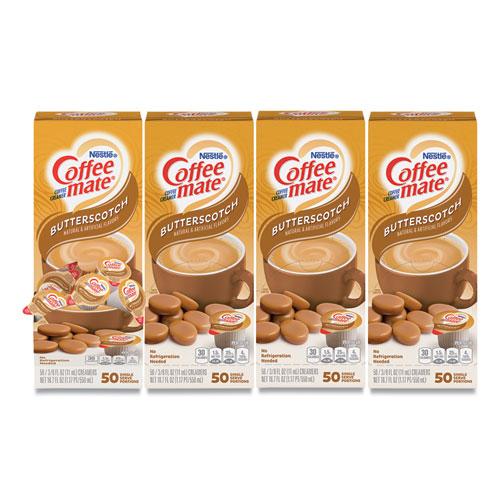 Liquid Coffee Creamer, Butterscotch, 0.38 oz Mini Cups, 50/Box, 4 Boxes/Carton, 200 Total/Carton