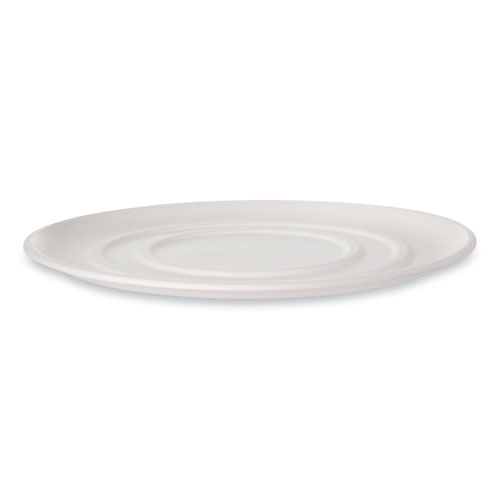 WorldView Sugarcane Pizza Trays, 16 x 16 x 02, White, 50/Carton