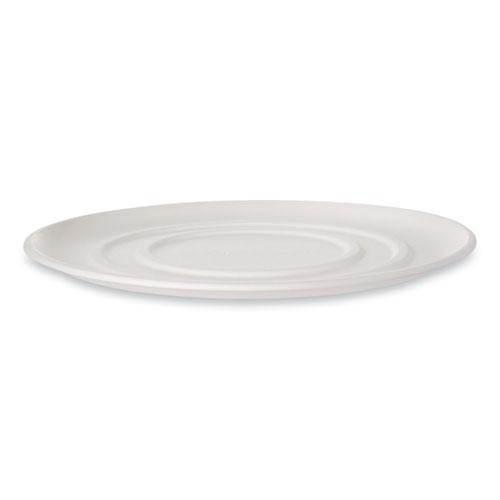 WorldView Sugarcane Pizza Trays, 16 x 16 x 02, White, 50/Carton