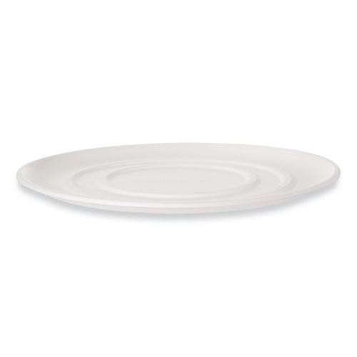 WorldView Sugarcane Pizza Trays, 14 x 14 x 0.2, White, 50/Carton