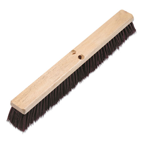 Floor Brush Head, 3 1/4 Maroon Stiff Polypropylene, 24