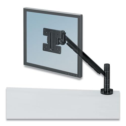 Designer Suites Flat Panel Monitor Arm, 180 Degree Rotation, 45 Degree Tilt, 360 Degree Pan, Black, Supports 20 lb