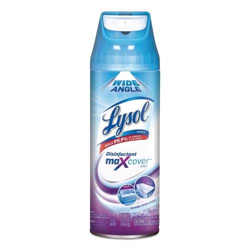 Max Cover Disinfectant Mist, Lavender Field, 12.5 oz Aerosol, 6/Carton