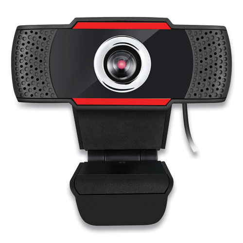 CyberTrack H3 720P HD USB Webcam with Microphone, 1280 pixels x 720 pixels, 1.3 Mpixels, Black