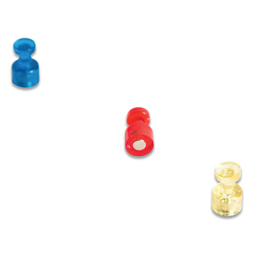 Magnetic Push Pins, Assorted, 0.75, 6/Pack