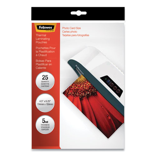 Laminating Pouches, 5 mil, 4.5 x 6.25, Gloss Clear, 20/Pack