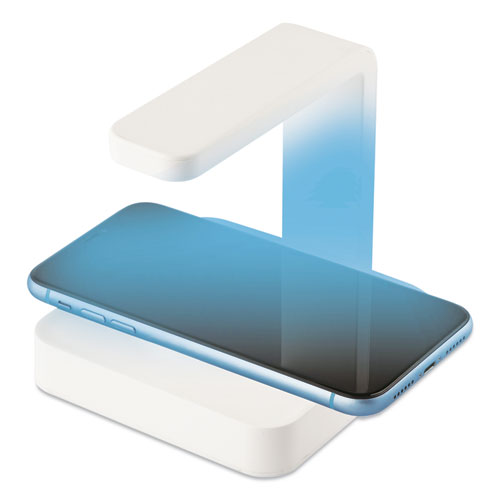 Sterilizer and Wireless Phone Charger, White