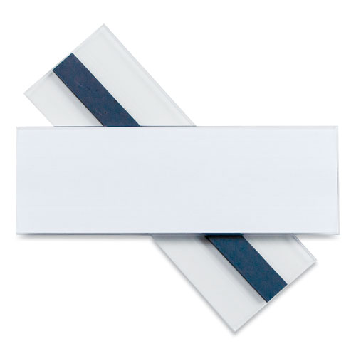 Clear Magnetic Label Holders, Side Load, 6 x 2, Clear, 10/Pack