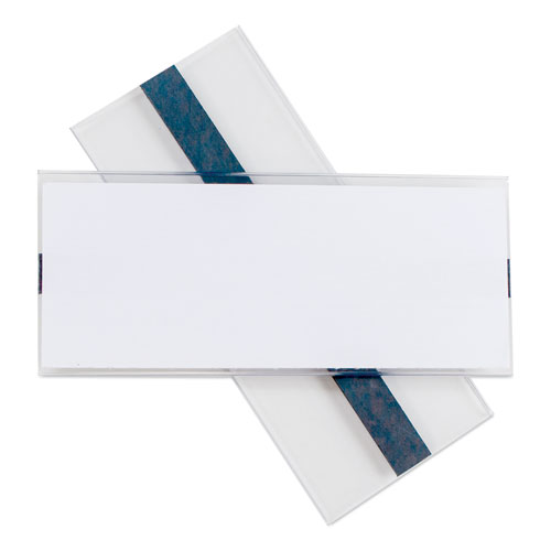 Clear Magnetic Label Holders, Side Load, 6 x 2.5, Clear, 10/Pack