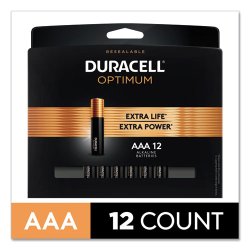 Optimum Alkaline AAA Batteries, 12/Pack