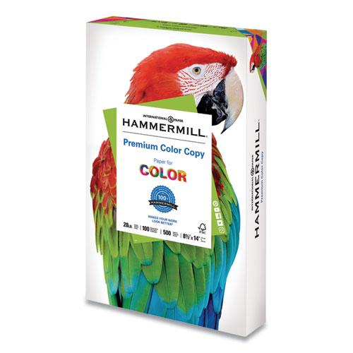Premium Color Copy Print Paper, 100 Bright, 28lb, 8.5 x 14, Photo White, 500/Ream