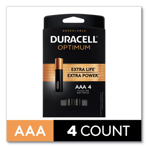 Optimum Alkaline AAA Batteries, 4/Pack