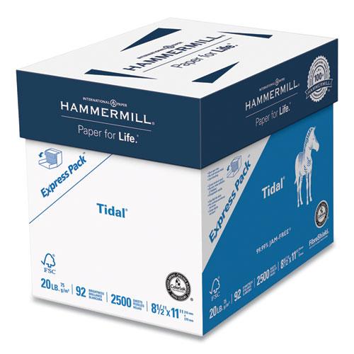 Tidal Print Paper Express Pack, 92 Bright, 20lb, 8.5 x 11, White, 2,500 Sheets/Carton